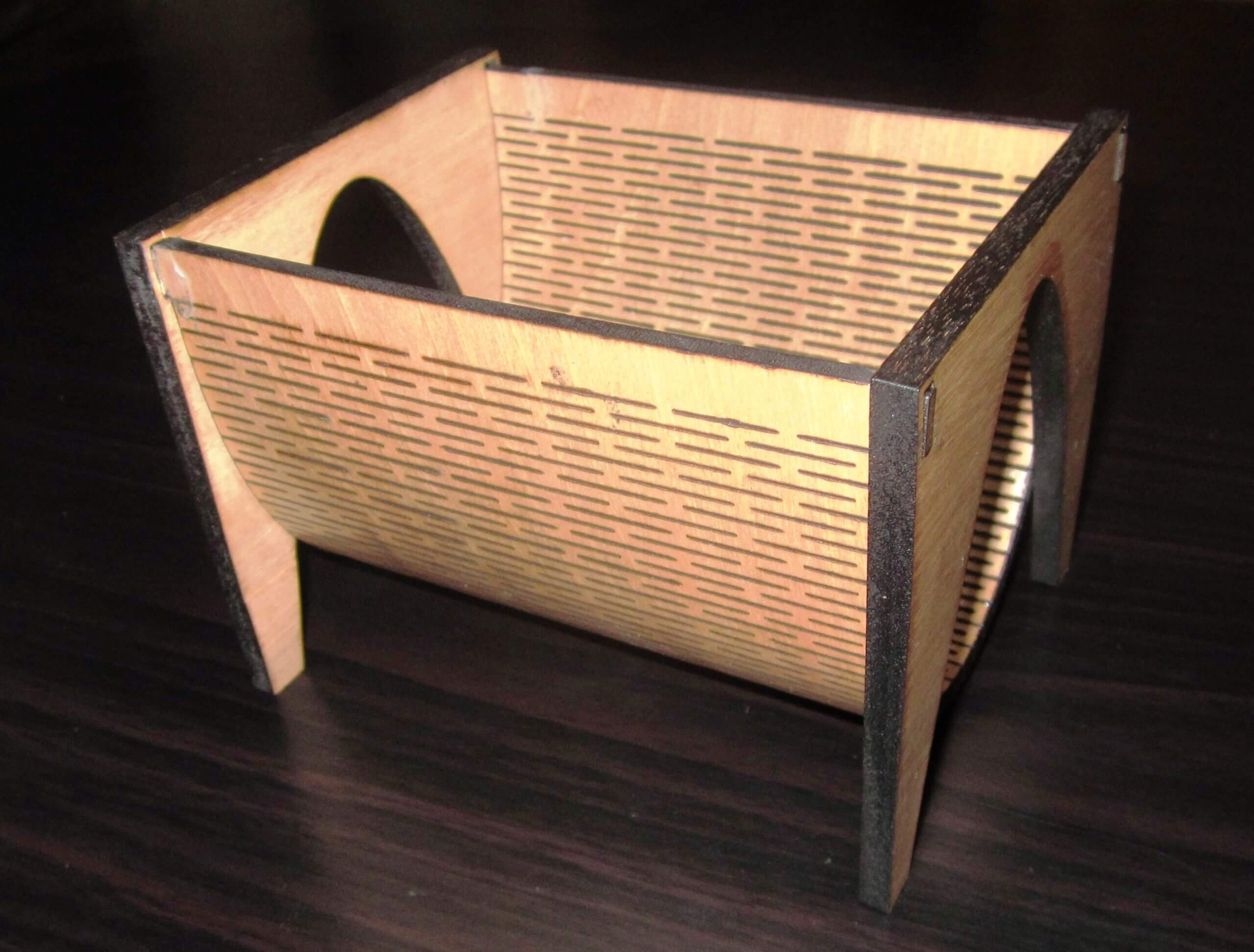 Living Hinge Curved Business Card Holders, Unique Office Accessories
