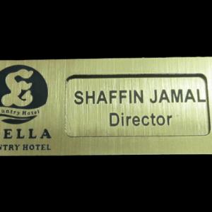 reusable gold name tag