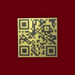 AlumaMark QR Code Asset Tag