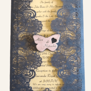 mesh design wedding invitation