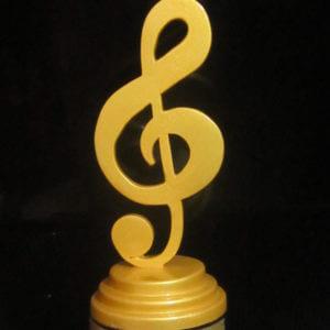 treble clef custom award