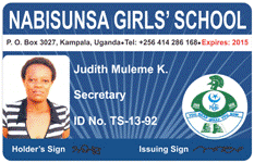 identity card sample